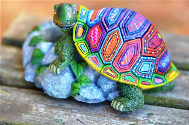 a turtle candle holder
